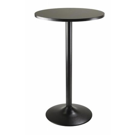 Pub Table Round Black MDF Top with Black leg and