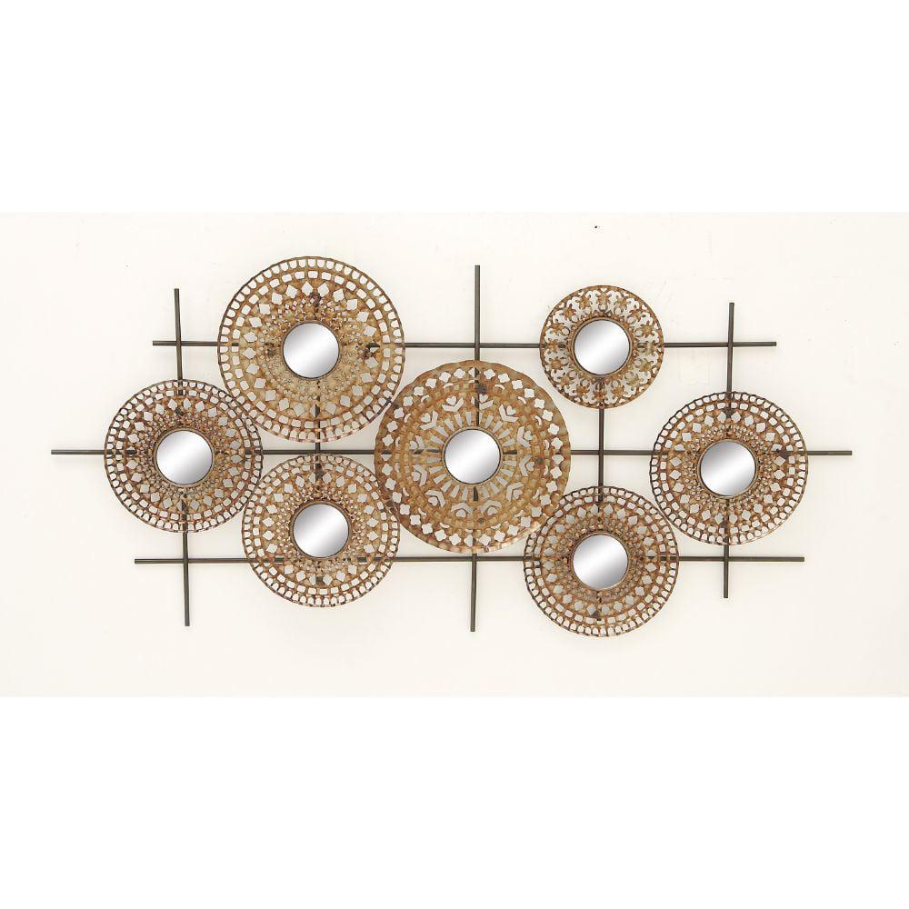 48667 Gorgeous Metal Mirror Wall Decor by Benzara