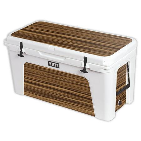 MightySkins Protective Vinyl Skin Decal for YETI Tundra 110 qt Cooler Lid wrap cover sticker skins Barnwood -  YETUND125-Dark Zebra Wood