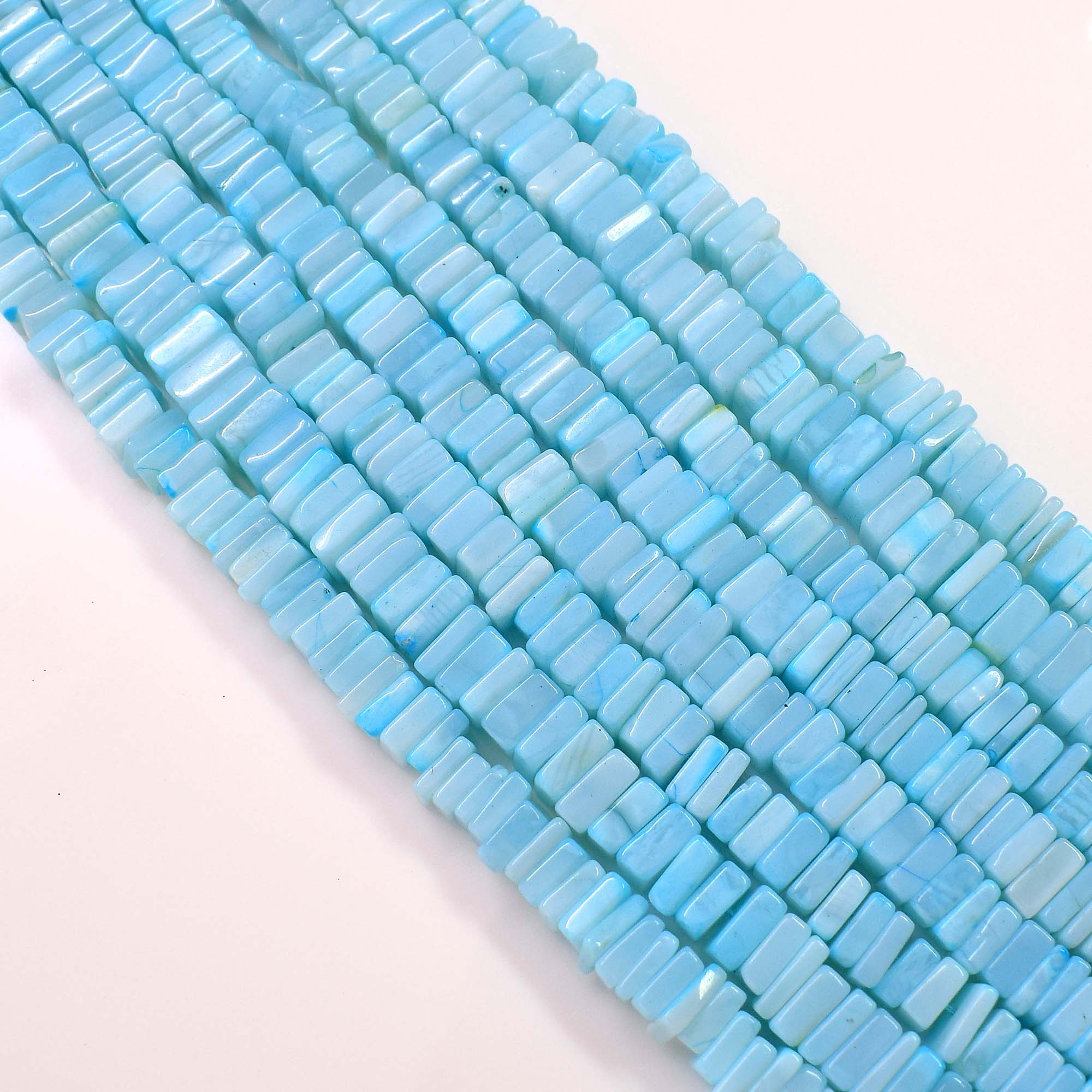 AUSTALIAN OPAL Heishi Beads Smooth Square Shape 100 Percent Natural Gemstone Size 7.7x7.2 mm Approx