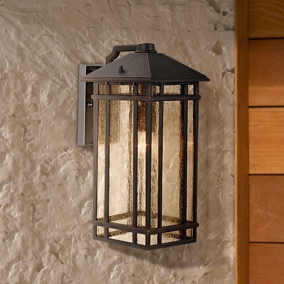 "Kathy Ireland J du J Sierra Craftsman 16 1/2"" High Outdoor Wall Light"