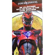 power rangers 32 valentines with 32 glow in the dark stickers