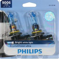 Philips Crystalvision Ultra Headlight 9006, P22D, Clear, Always Change In Pairs!