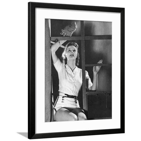 Frame Dust (Dusting for Exercise Framed Print Wall Art)