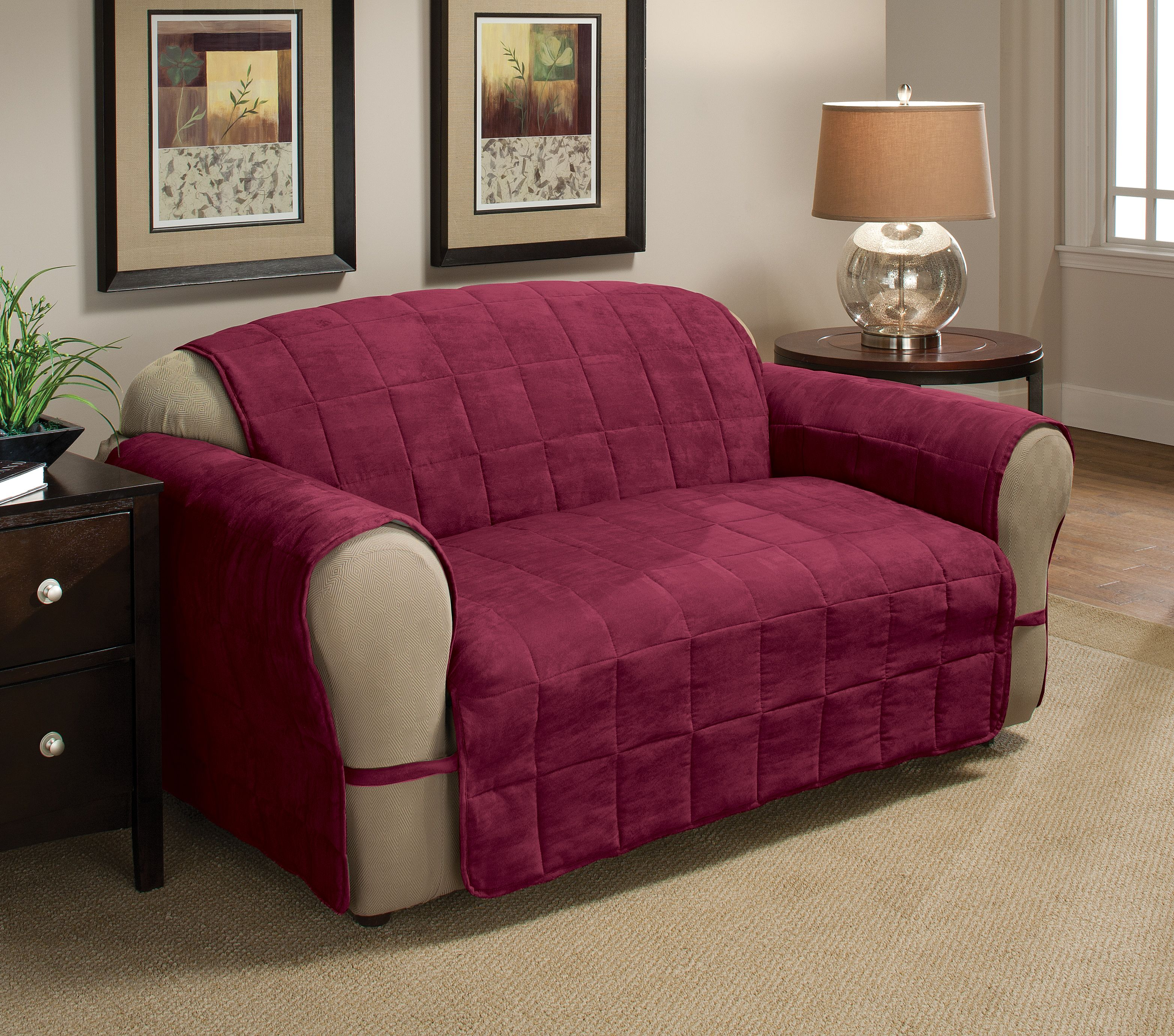 Innovative Textile Solutions Ultimate Faux Suede Xl Sofa