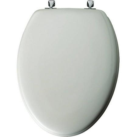 mayfair elongated enameled wood toilet seat