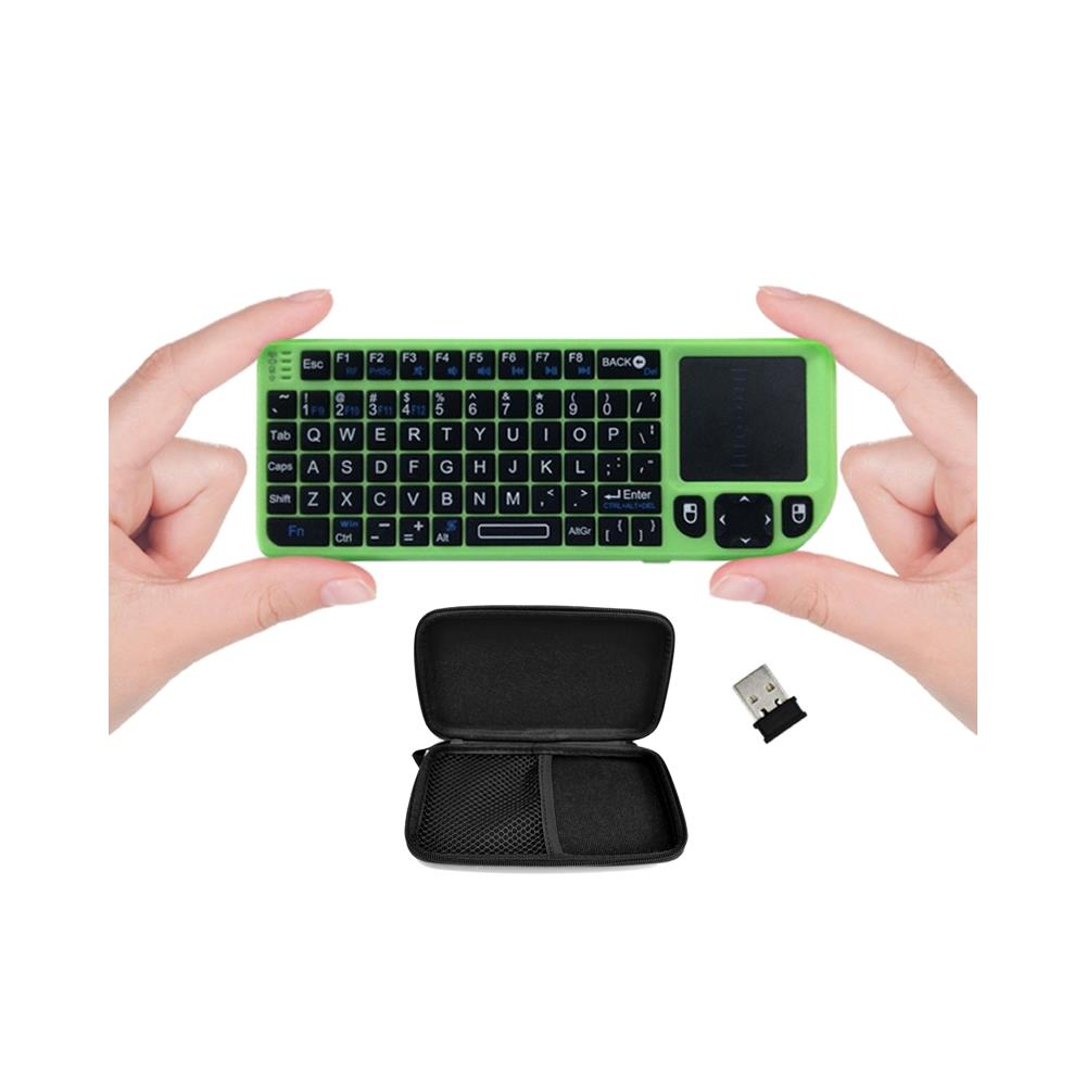 FAVI Wireless Mini Keyboard with Laser Pointer and Case - Green (FE01-GR-C)