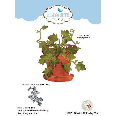 """Elizabeth Craft Metal Die By Susan's Garden Club-Garden Notes-Ivy Vine, 4""""X2"""""""