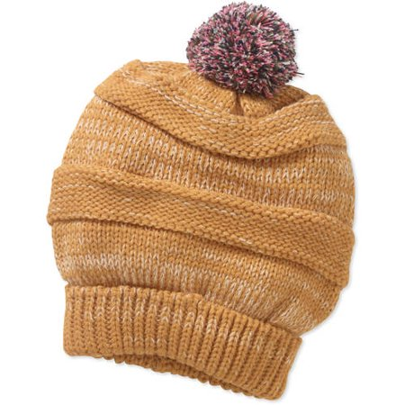 Girls Cold Weather Fashion Beanie With Pom