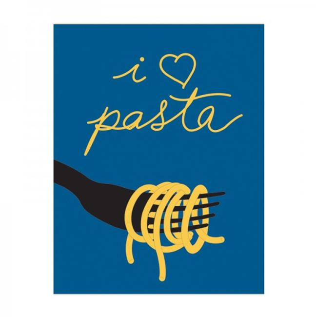 Thats Italia THCV21 Canvas Dishcloth I Love Pasta, 27. 6 x 19. 7 inch