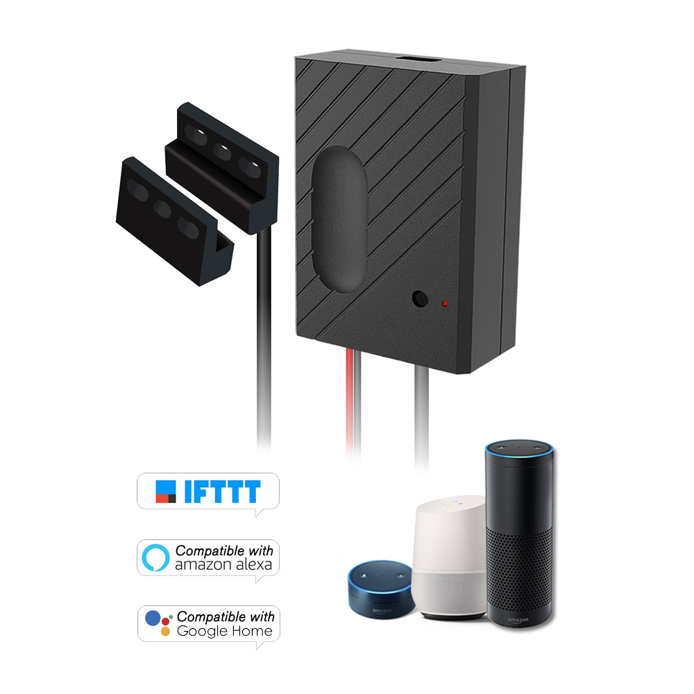 WiFi Smart Switch Garage Door Controller Compatible Garage Door Opener Smart Phone Remote Control Timing Function Voice Control for Amazon Alexa and for Google Home IFTTT