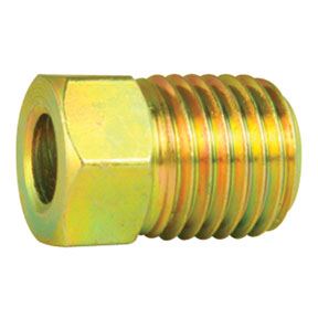 "Ags Company AGS-BLF-12 3/16"" 3/8-24 Inverted Steel Tube Nut"