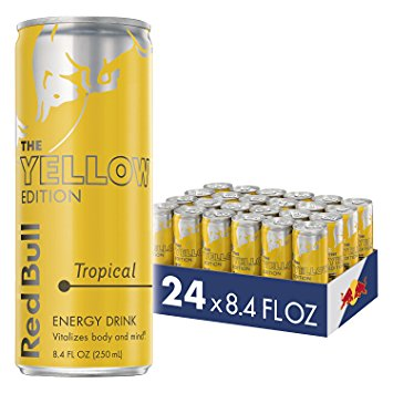 Red Bull Yellow Edition Energy Drink, Tropical, 8.4 Fl Oz, 24 Count