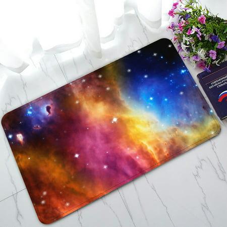 Image of PHFZK Universe Doormat, Nebula and Star Field against Space Doormat Outdoors/Indoor Doormat Home Floor Mats Rugs Size 30x18 inches