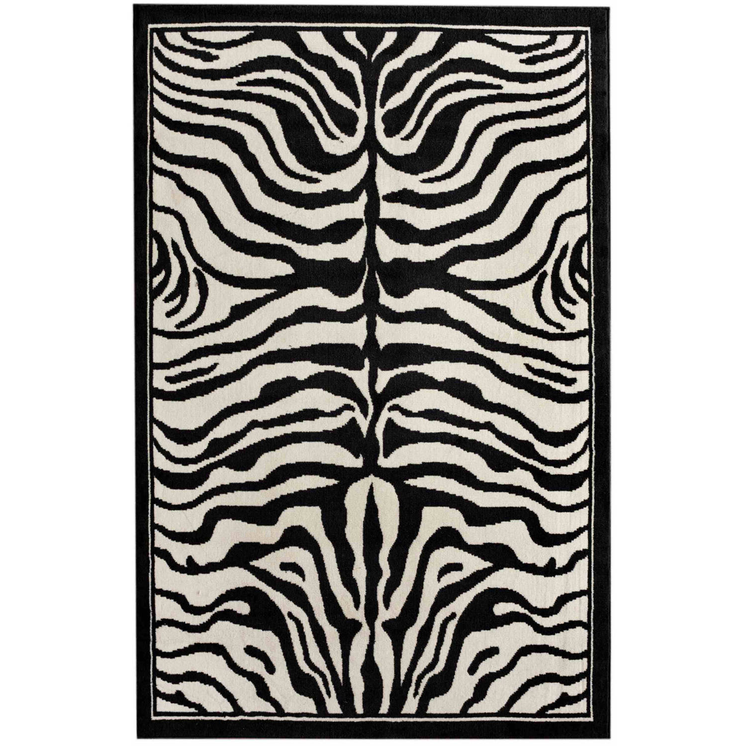 nuLOOM Machine Made Contemporary Zebra Print Area Rug