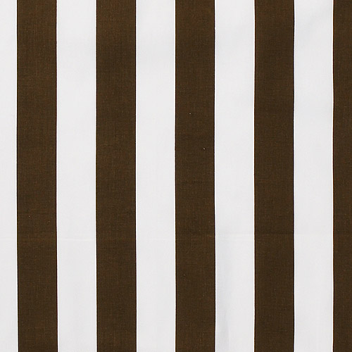 Bacati Stripes Cotton Rod Pocket Single Curtain Panel