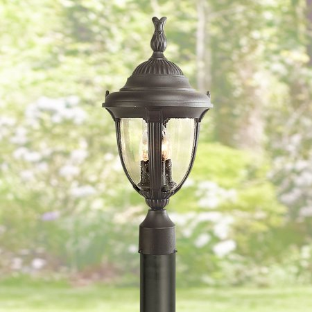 Black Energy Star Outdoor Post - John Timberland Traditional Outdoor Post Light Sleek Black 19 1/2
