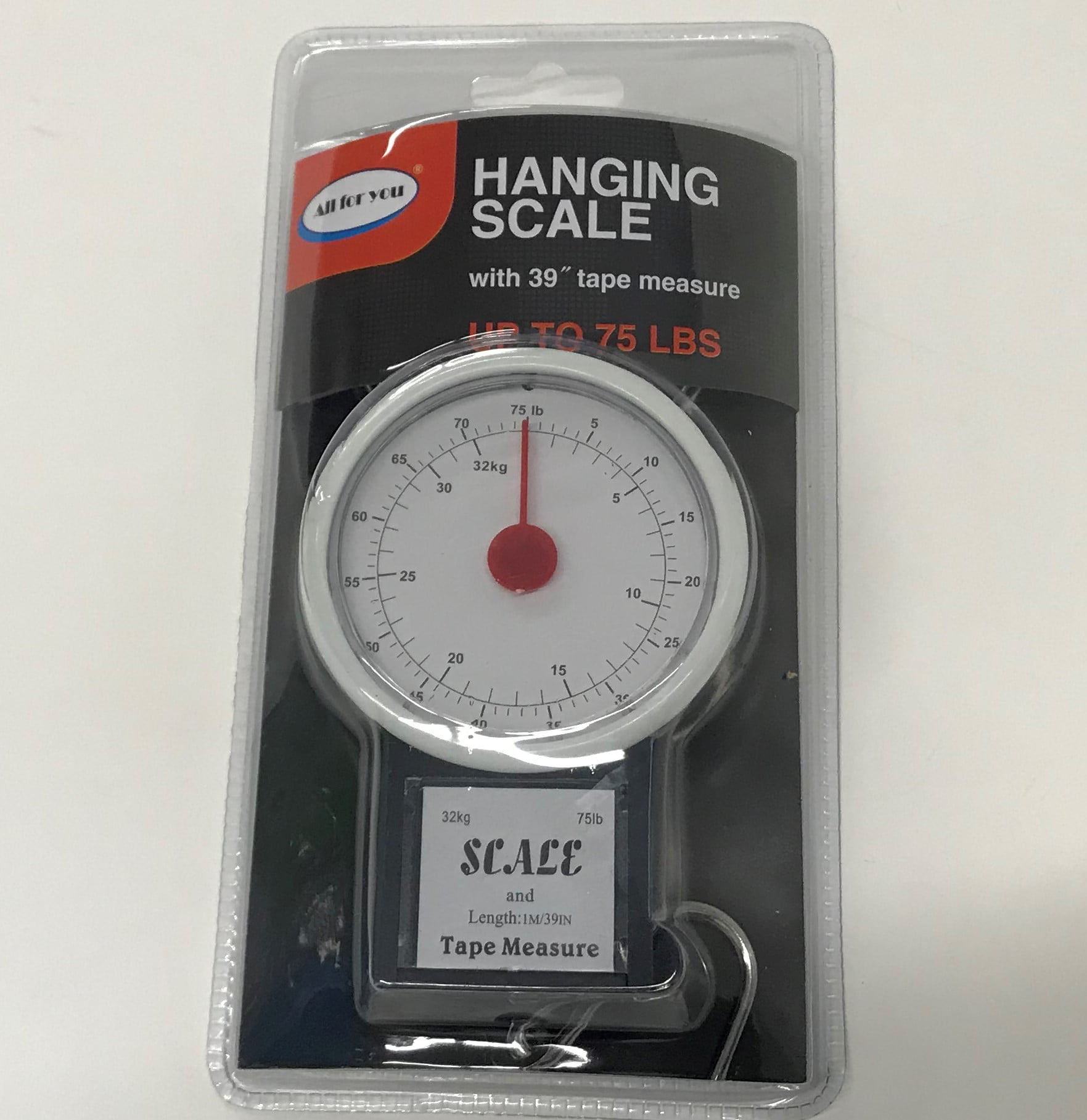 WOW Kitchen Scales Fish Scales 32 KG Tape Measure 1m horizontal beam scales 75 LB
