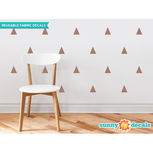 Sunny Decals Triangle Fabric Wall Decal (Set of 32)