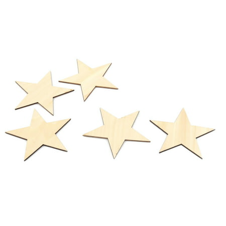 Unique Bargains Wooden Star Shaped DIY Craft Christmas Tree Ornaments Beige 100 x 100mm 5 - Money Tree Craft