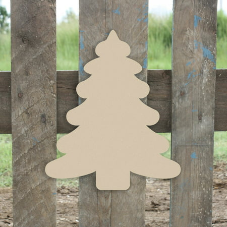 Wooden Christmas Tree 2 Shape, Unfinished Wood Craft
