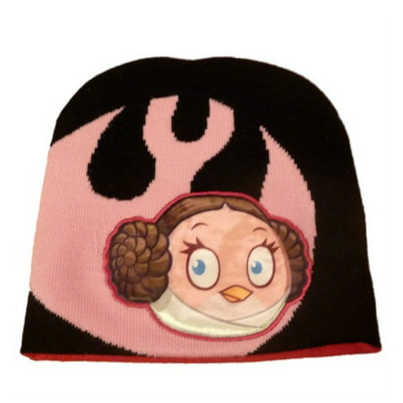 Angry Birds Star Wars Girls Princess Leia Beanie Winter Hat Pink Stocking Cap - Stocking Hats