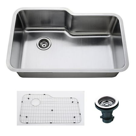 Empire Sink (Empire 32 Inch Undermount Single Bowl 16 Gauge Stainless Steel Kitchen Sink with Soundproofing )