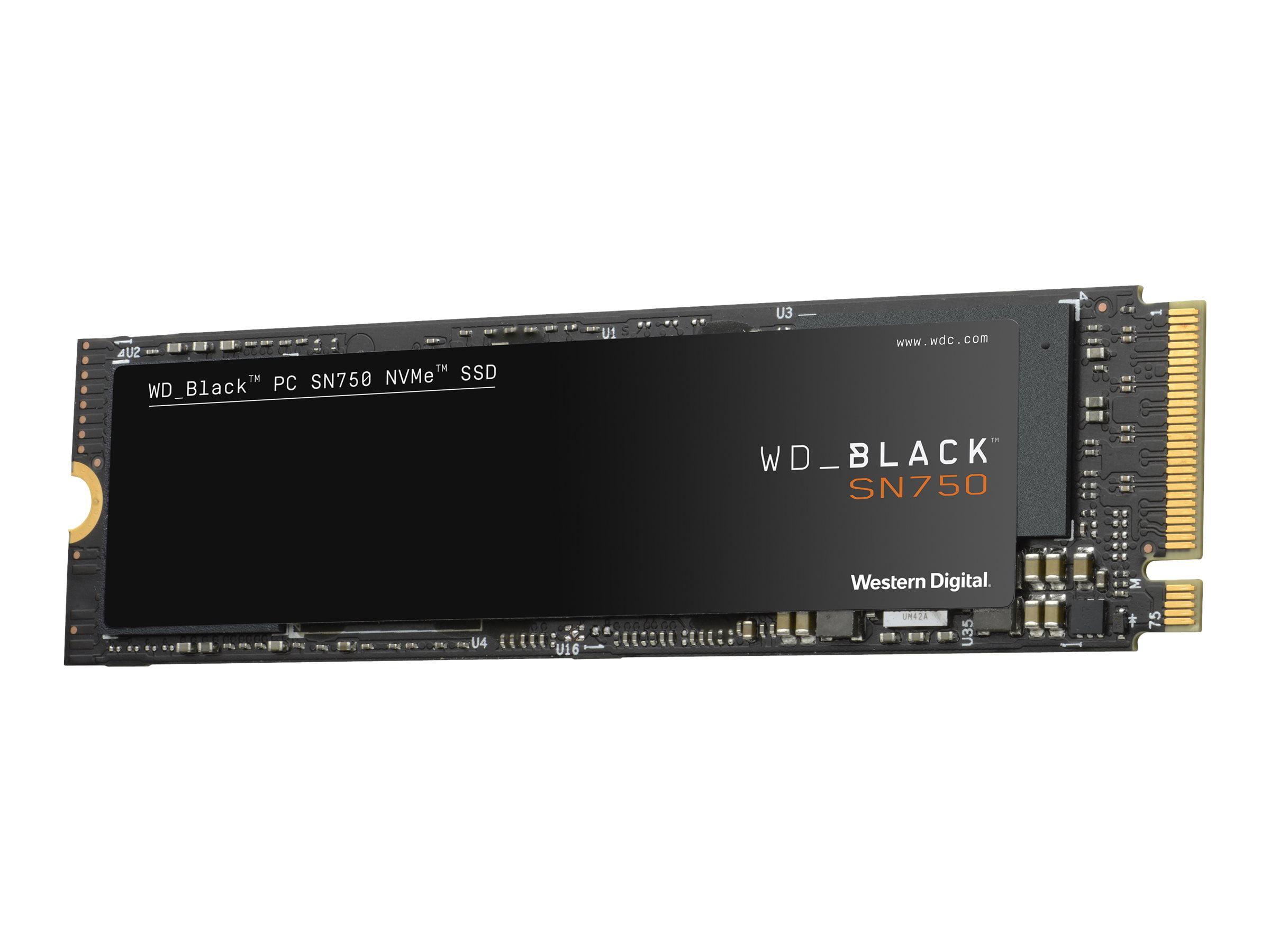 WD Black SN750 NVMe SSD WDBRPG0010BNC - Solid state drive - 1 TB - internal - M.2 2280 - PCI Express 3.0 x4 (NVMe)