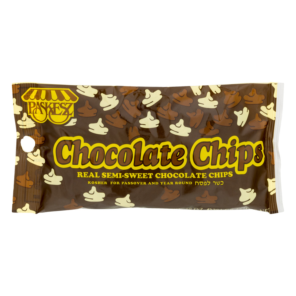 Paskesz Chocolate Chips Semi-Sweet, 10.0 OZ