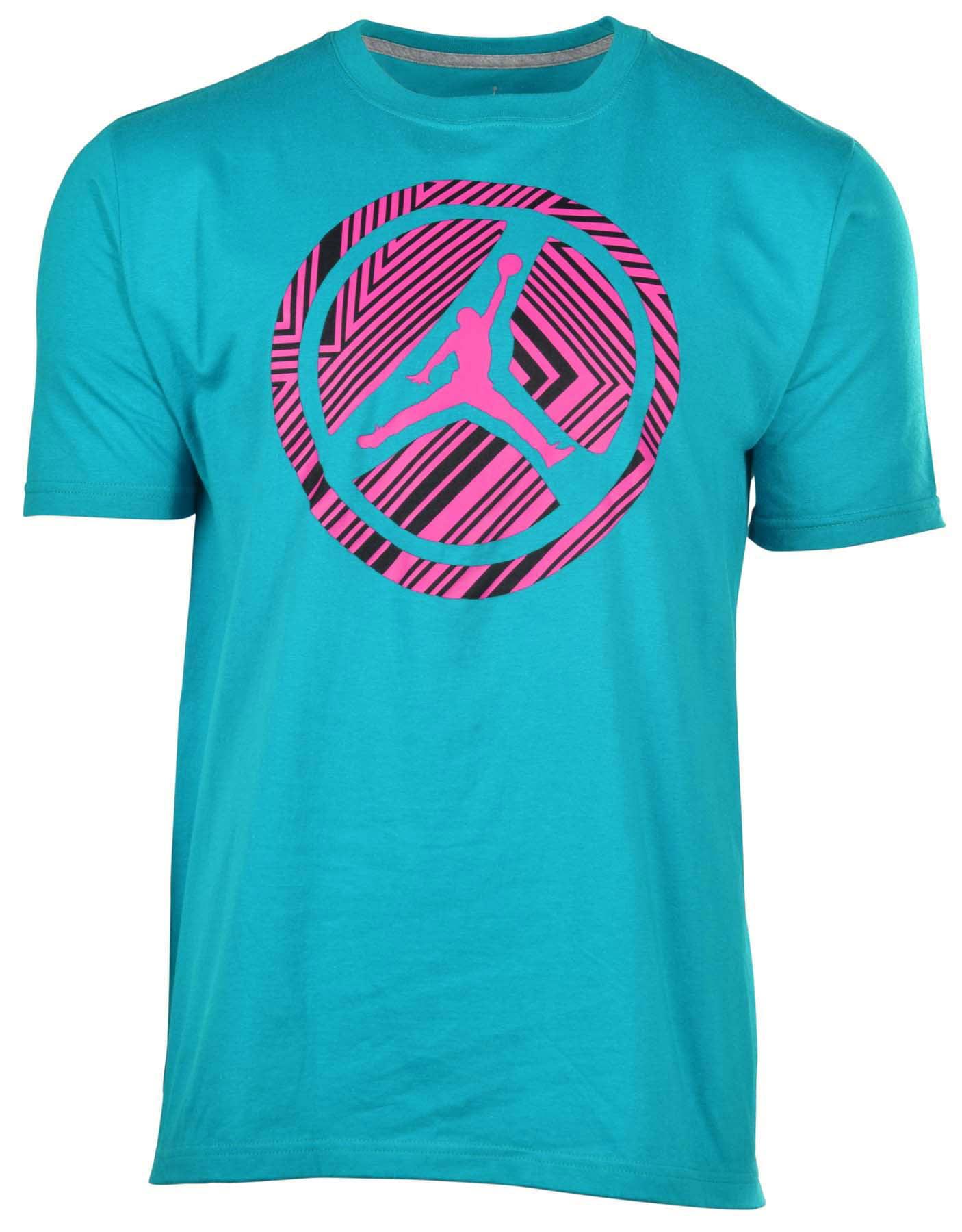 e49d553e84a4 Jordan - Jordan Men s Nike Lined Pinwheel Jumpman T-Shirt-Teal - Walmart.com