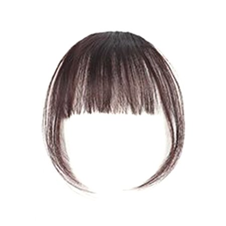 Girl Hair Air Fringe Bang with Hairs on the Temple Women Wigs Front Neat Bangs with Clip In Girl Hair Extensions Piece (Hair Clip Wigs)