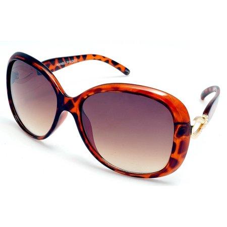 Tortoise Shell Mix - Women's Oversized Butterfly Retro Fashion Sunglasses - Jackie O - Tortoise Shell
