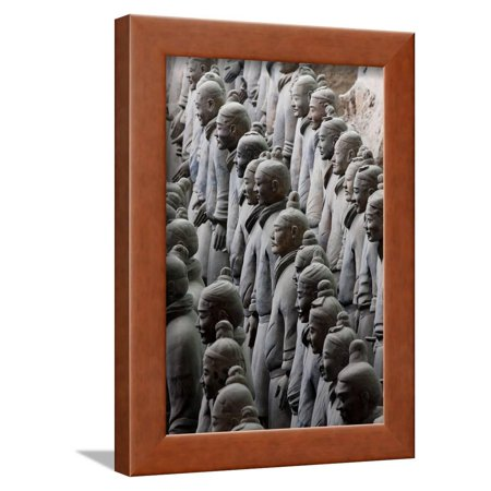 Terracotta Soldiers at Qin Shi Huangdi Tomb Framed Print Wall Art ...