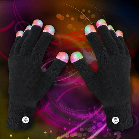 Fun Central R94 1 Pair LED Gloves, LED Rave Gloves, LED Finger Gloves, Light Up Rave Gloves - Rave Glove Tricks
