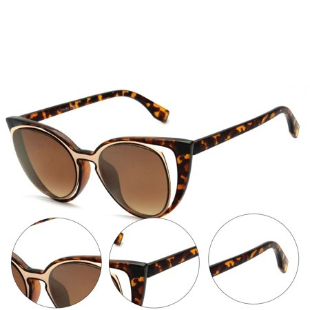 MLC Eyewear Urban Fashion Double Frame Catty Cateye Women (Sunglasses Urban Dictionary)
