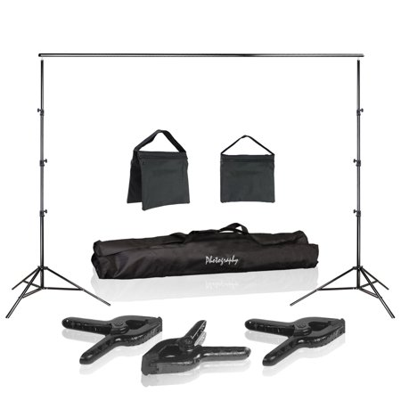 Photo Video Studio 10 ft. Width Adjustable Background Stand Backdrop Support Structure System Kit with Photo Clamp, Photography Studio - Kentucky Derby Photo Backdrop