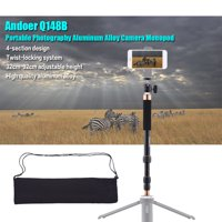 Andoer Q148B Portable Photography Aluminum Alloy Camera Monopod Also As Selfie Stick 4-Section Telescopic Twist-Locking System 32cm-95cm Adjustable Height for DSLR Camera ILDC Max Load Capacity 4kg