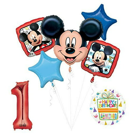 NEW Mickey Mouse 1st First Birthday Party Supplies Balloon Bouquet Decorations - Mickey Mouse Birthday Cake Pan