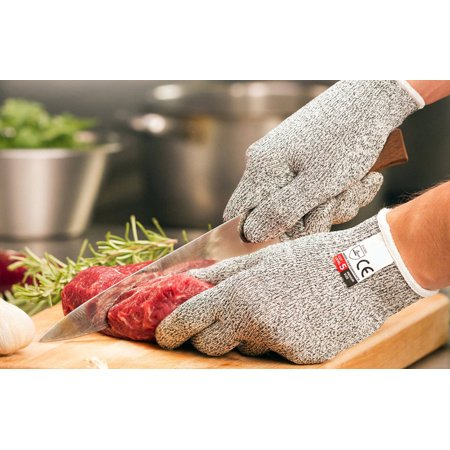 1 Pair Cut Resistant Gloves, Safety Work Glove, Good Performance Level 5 Protection Cuts Glove, Food Grade, Large Size - image 5 of 8