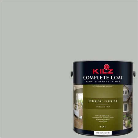 KILZ COMPLETE COAT Interior/Exterior Paint & Primer in One #RK210 International Gray](Gray Body Paint For Halloween)