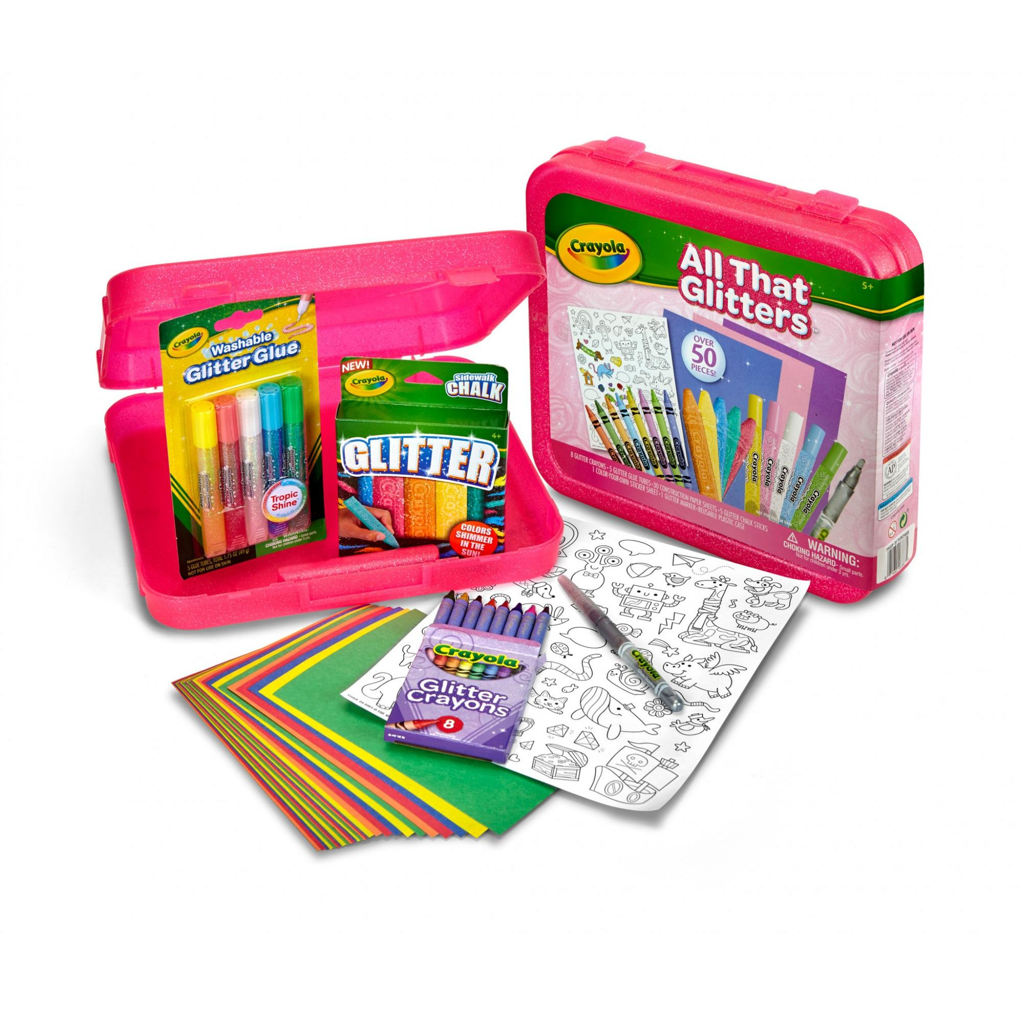 Crayola All That Glitters Art Case, 50 Pieces, Ages 3+