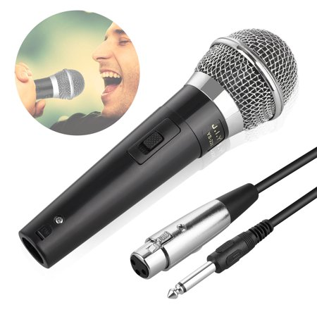 TSV Professional Dynamic Cardioid Vocal Wired Microphone with XLR Cable (19