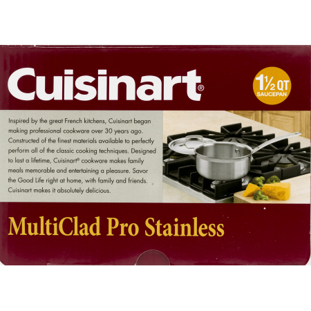 Cuisinart MultiClad Pro Triple Ply Stainless Saucepan