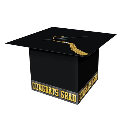 Grad Cap Card Box Black