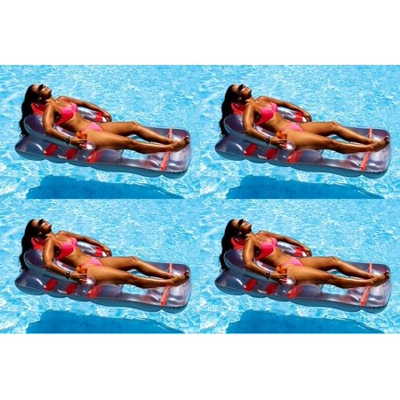 Outstanding 4 New Swimline 9041 Swimming Pool Inflatable Deluxe Lounge Chairs W Back Support Ocoug Best Dining Table And Chair Ideas Images Ocougorg