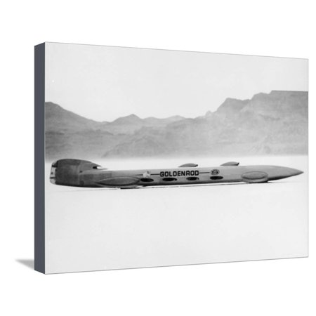 Land Speed Record Car - Goldenrod' Land Speed Record Attempt Car, Bonneville Salt Flats, Utah, USA, 1965 Stretched Canvas Print Wall Art