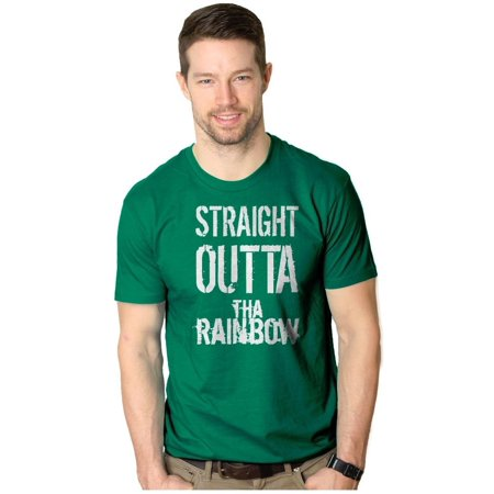- Crazy Dog T-shirts Mens Straight Outta The Rainbow Funny Irish St. Patrick's Day T shirt (Green)
