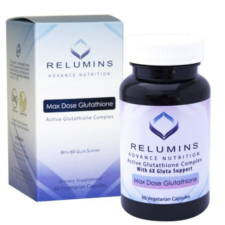 NEW Relumins Advance White Active Glutathione Complex -Oral Whitening Formula Capsules with 6X Boosters- Whitens, repairs & rejuvenates