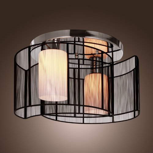 Lightinthebox black semi flush mount with 2 lights mini style chandeliers modern ceiling light