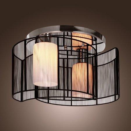 Lightinthebox black semi flush mount with 2 lights mini style chandeliers modern ceiling light